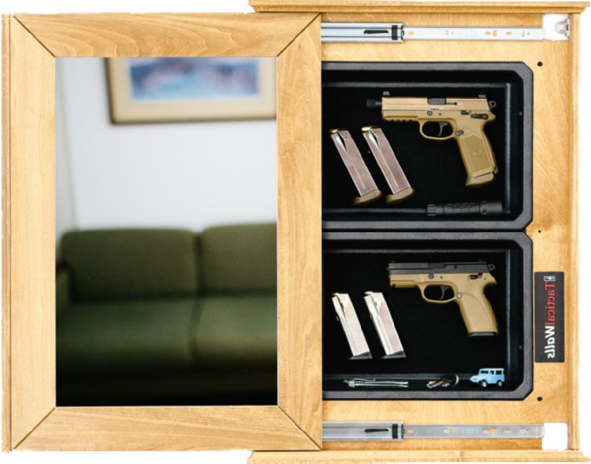 Tactical Walls 1420M Bundle Recessed In-Wall Home-Defense Mirror