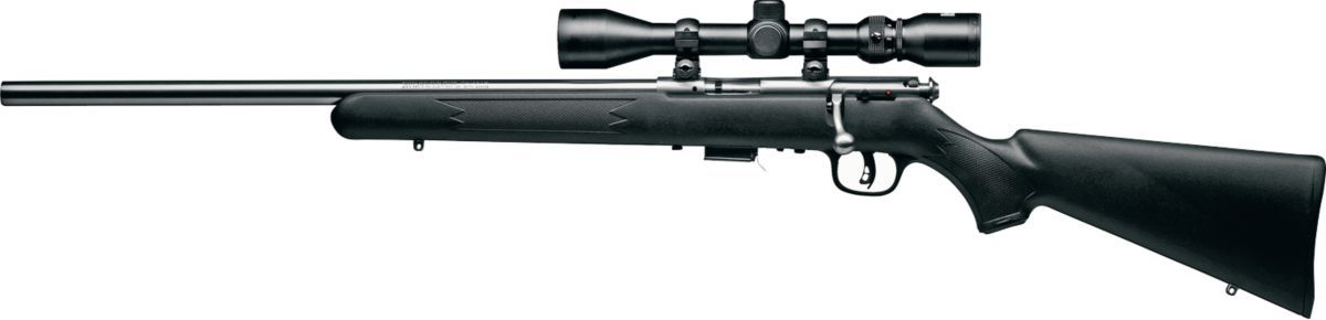 Savage® Arms Mark II and 93R17 Stainless Steel Bolt-Action Rimfire Rifle with AccuTrigger™ and Bushnell® Scope Combos