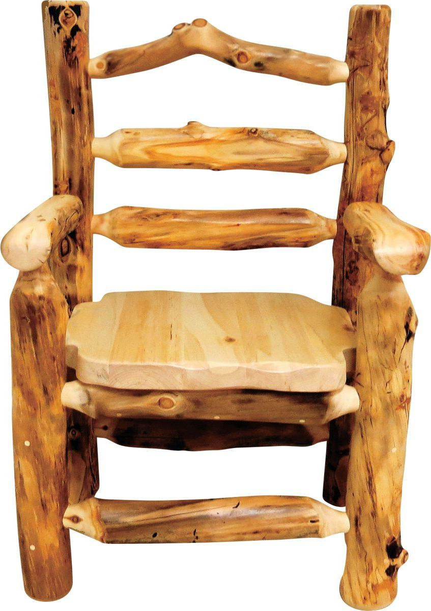 Mountain Woods Furniture® Aspen Grizzly Captain's Dining Chair