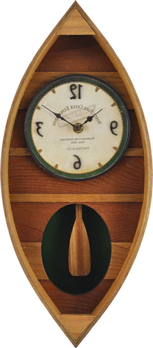 FirsTime & Co.® Wood Canoe Wall Clock
