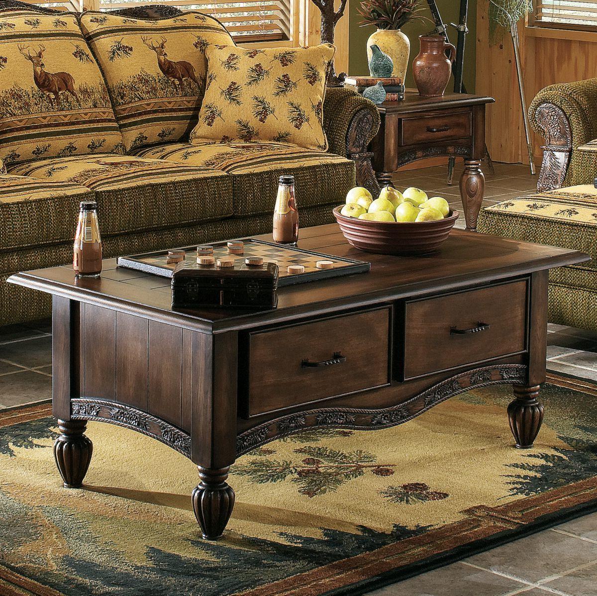 Modern of Marshfield Pine Cone Lodge Coffee Table