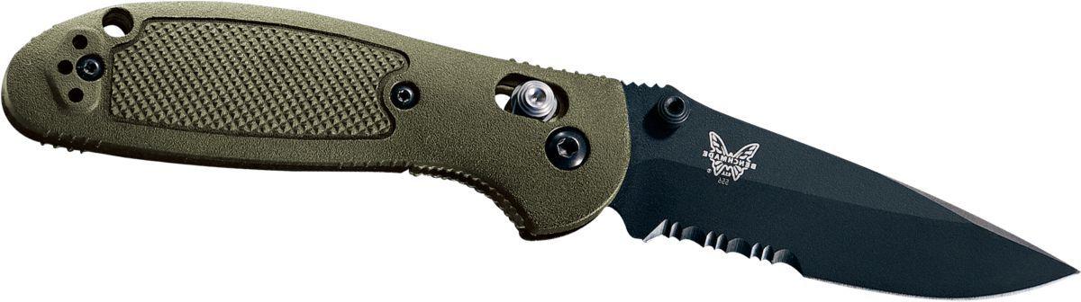 Benchmade® D2 Steel Serrated Blade Mini-Griptilian® Knives