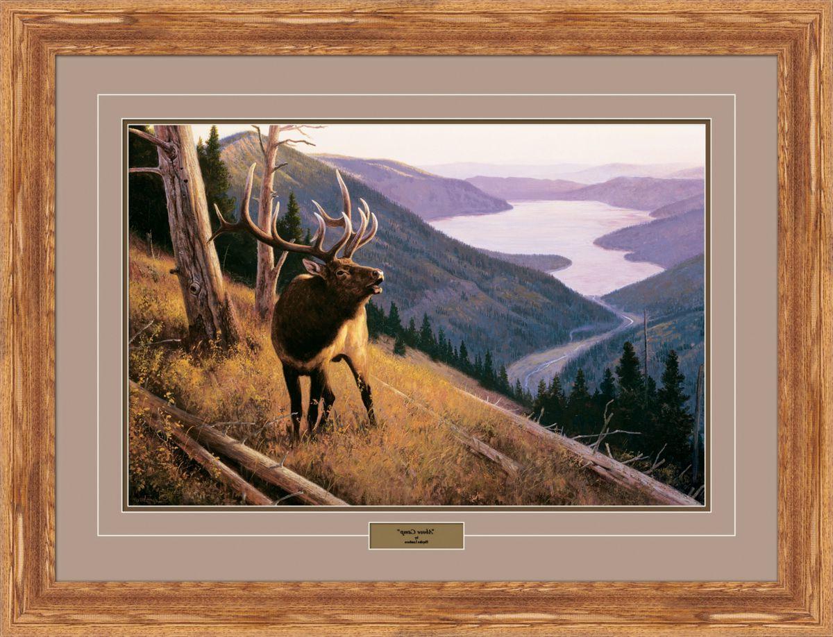 Reflective Art Hayden Lambson Limited Edition Elk Framed Prints – Above Camp