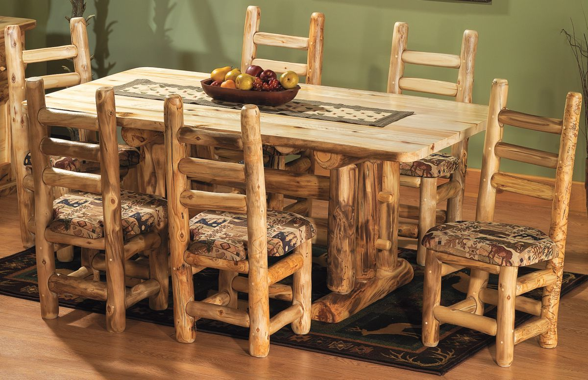 Mountain Woods Furniture® Aspen 6' Upholstered Dining Set - The Woods