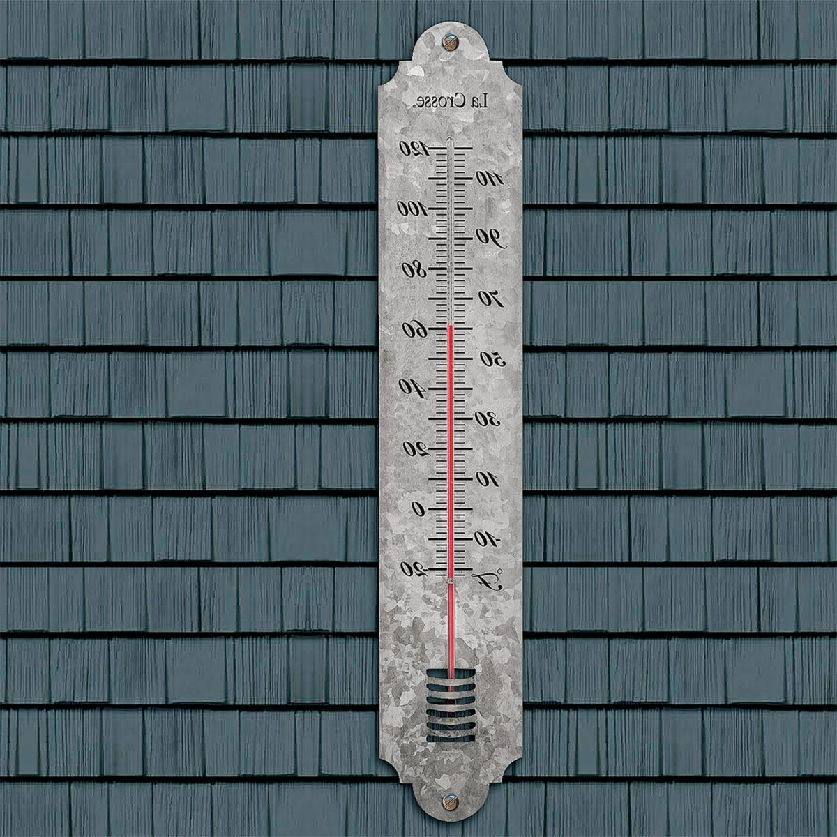 "La Crosse Technology® 240-1550 19.25"" Galvanized Thermometer"