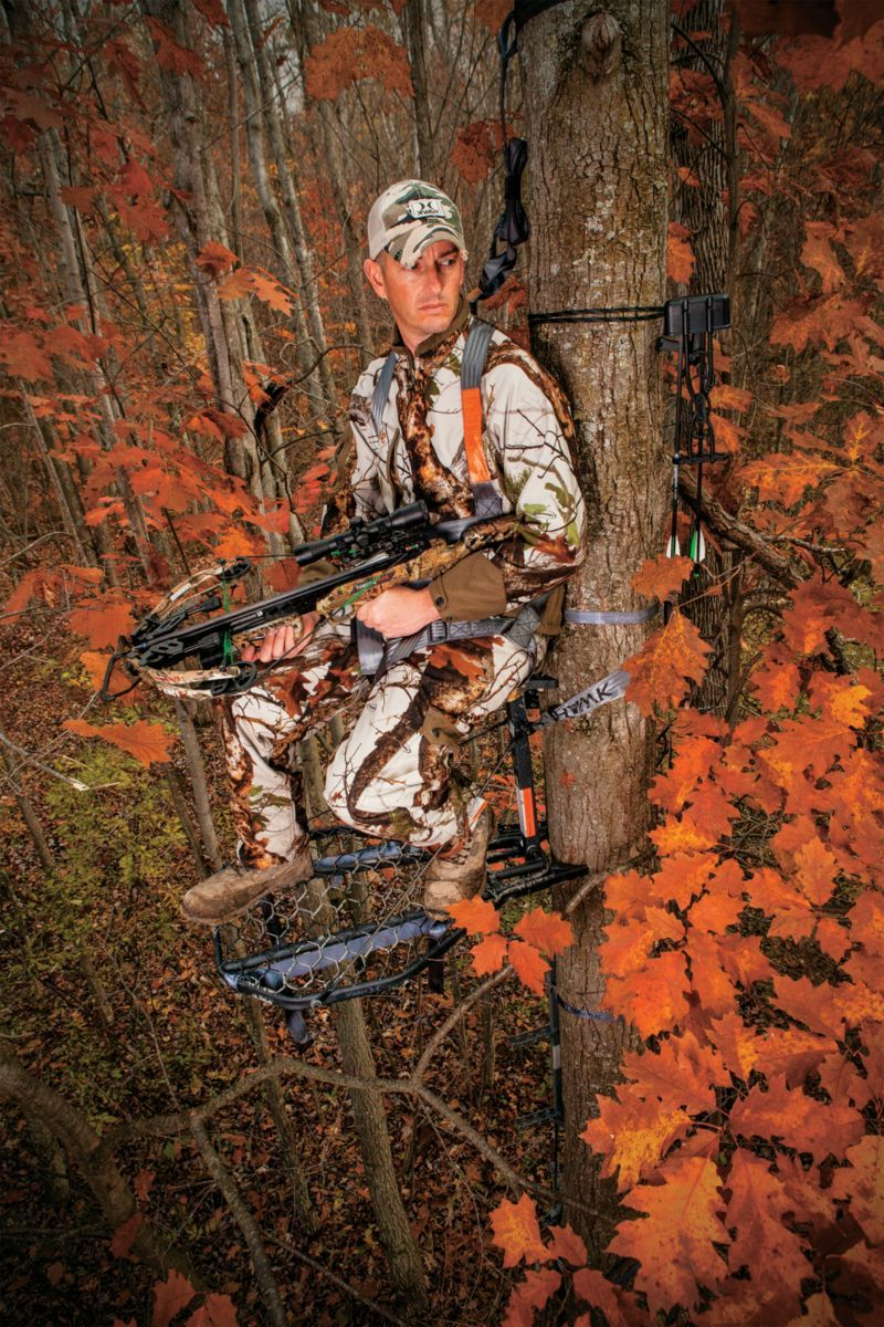 Hawk® Mega Combat® Hang-On Treestand – Mud Finish Camo