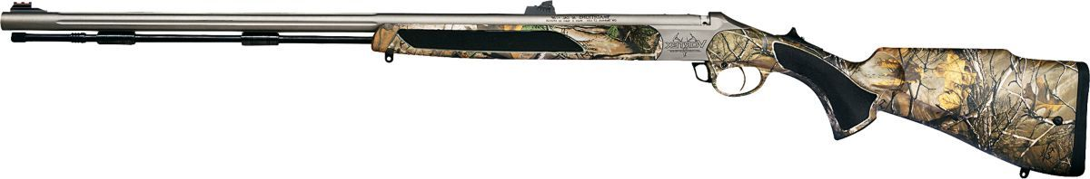 Traditions™ Vortek™ StrikeFirer™ Northwest Magnum Muzzleloader with Fiber Optic Sights – Premium Cerakote™/Realtree XTRA®