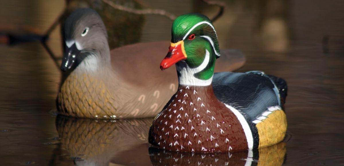 Higdon Outdoors Standard Wood Duck Decoys – Six-Pack