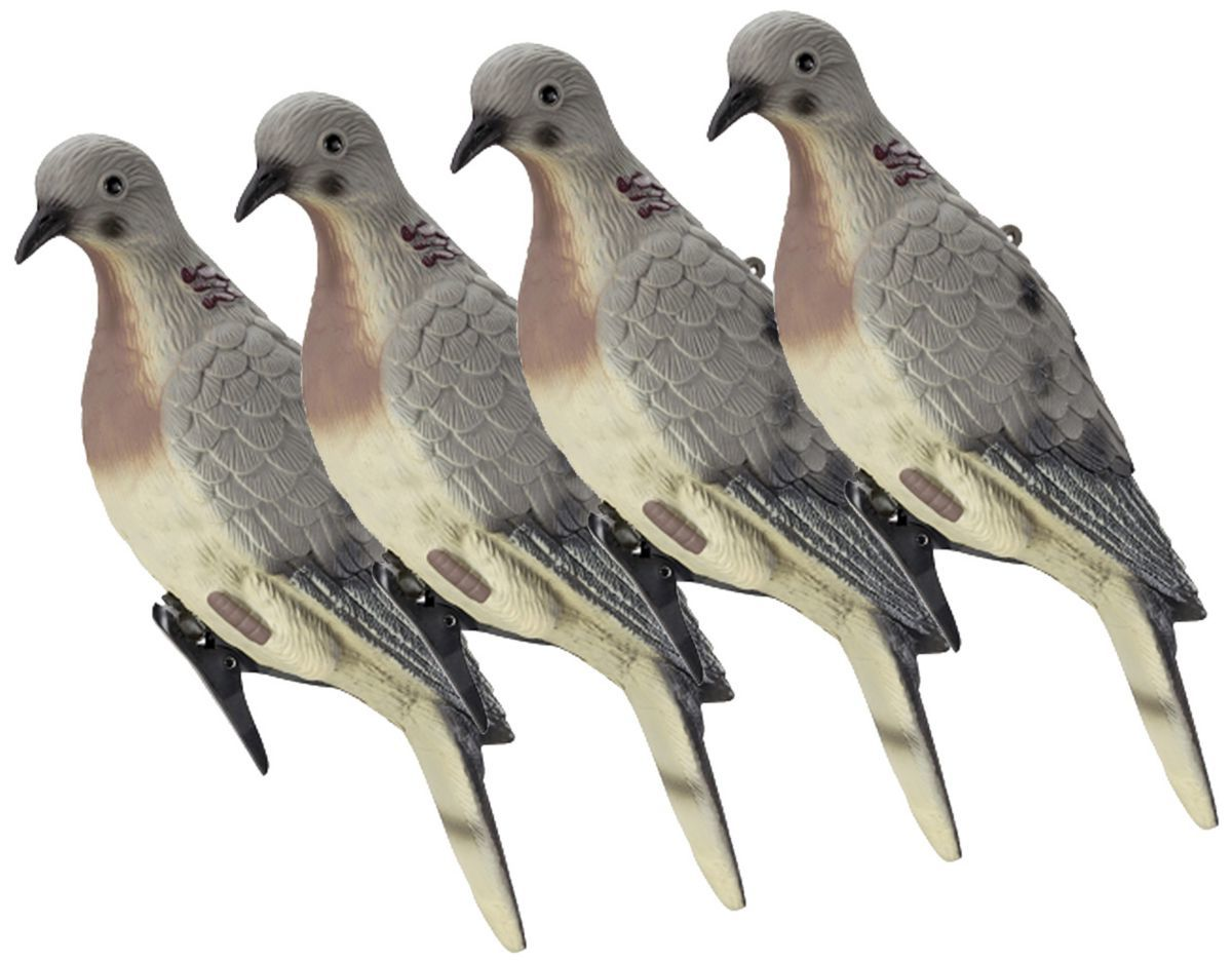 Lucky Duck Clip-On Dove Decoys Four-Pack