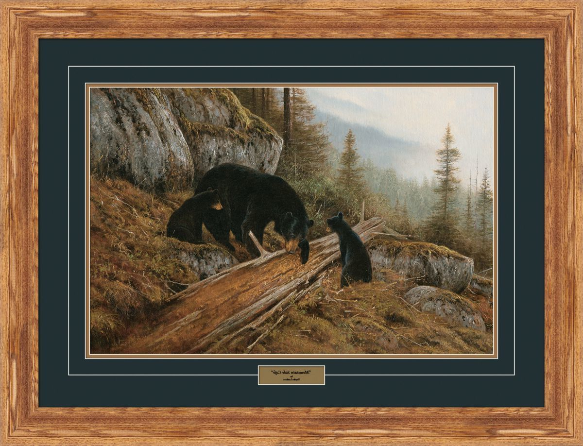 Reflective Art Hayden Lambson Limited Edition Bear Framed Print – Mountain Side Cafe