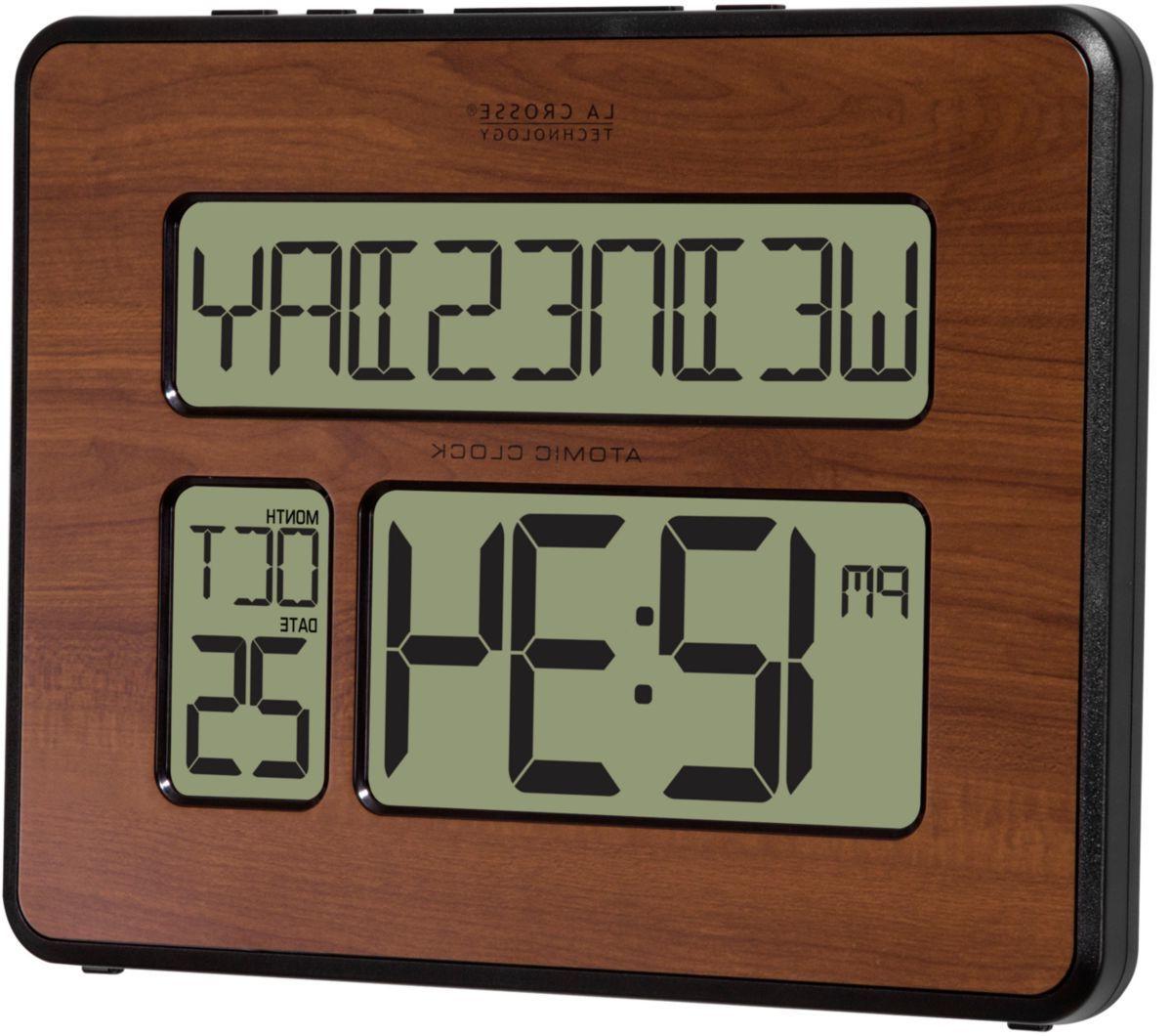 La Crosse Technology® 513-1419-WA Atomic Full Calendar Digital Clock