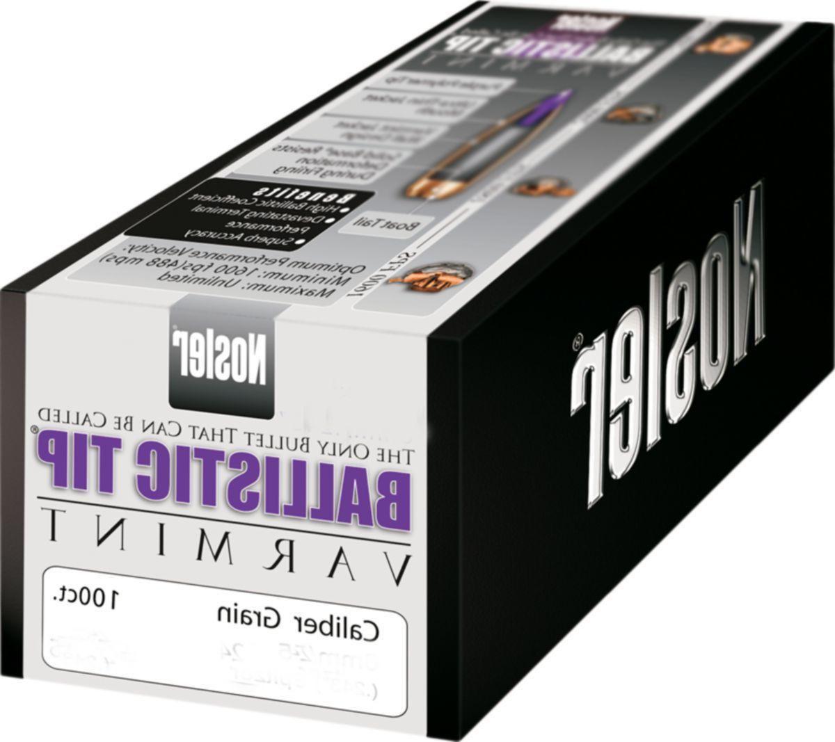Nosler® Ballistic Tip® Varmint Boattail Bullets – .20 Caliber