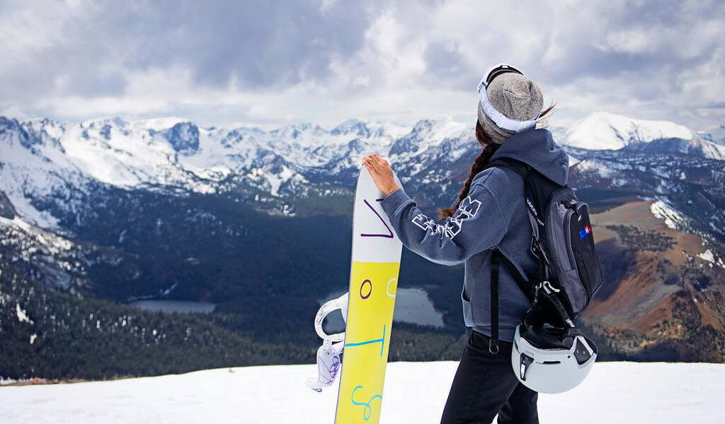 women snowboarding gear