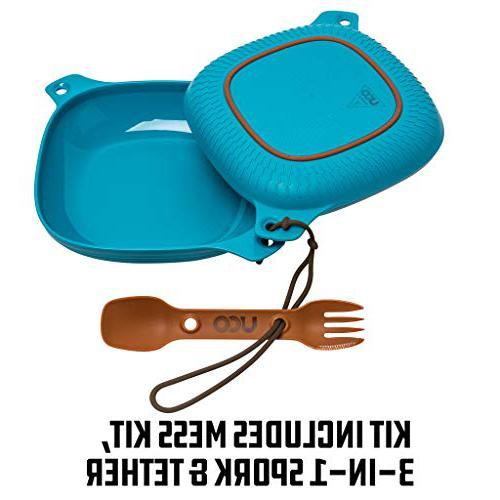 UCO 4-Piece Camping Mess Kit backpacking spork