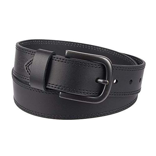 Dickies Men's Casual Leather Belt | 44 (Waist 42) belt for backpacking