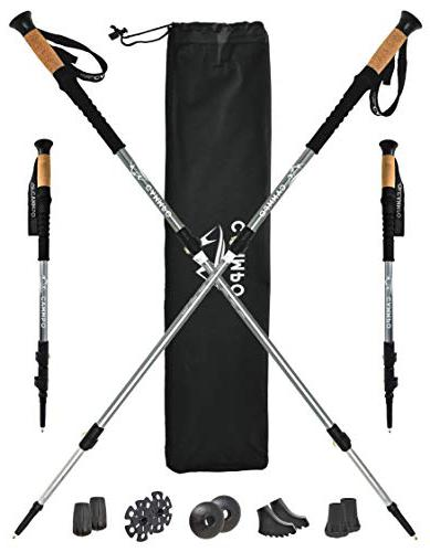 CAMMPO Collapsible Lightweight Aluminum Trail Running Poles