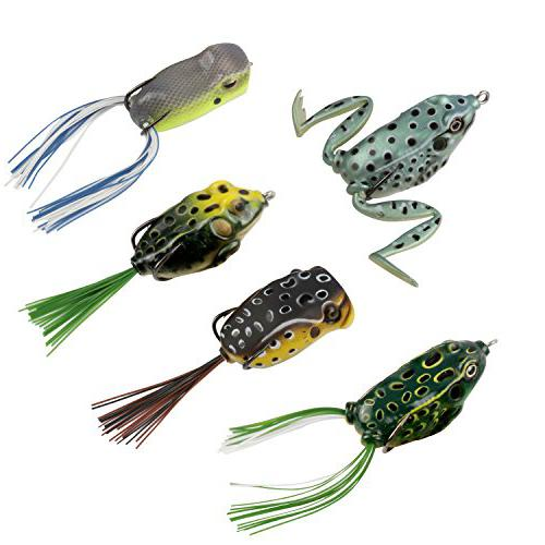 RUNCL Topwater Frog Lures bait for northern pike