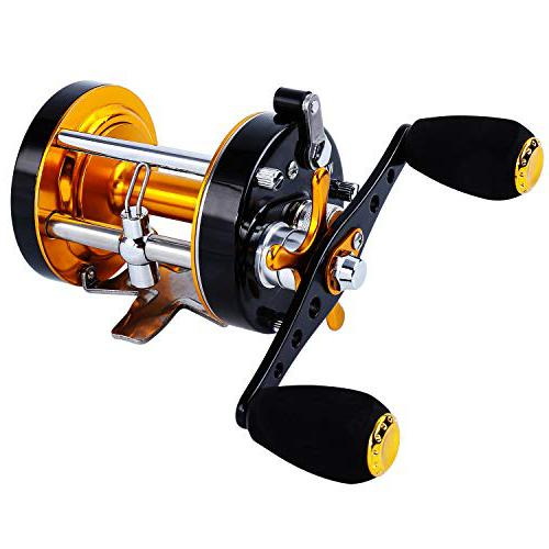 Sougayilang Fishing Reels Round Baitcasting catfish reel