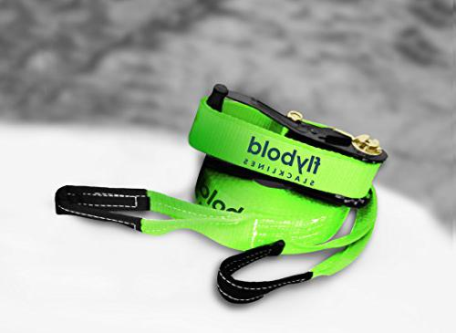 flybold Kit with Tree Protectors 57 feet beginner slackline