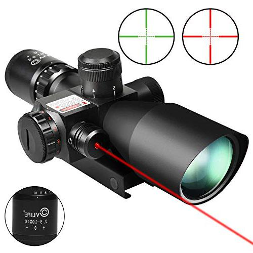 CVLIFE 2.5-10x40e Red & Green Illuminated budget red dot scope