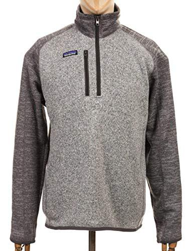 Patagonia Men's Better Sweater 1/4-Zip Fleece - Nickel w/ Forge Grey Patagonia jacket