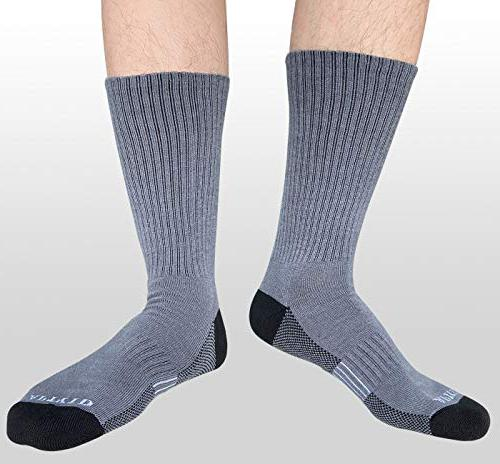 APTYID Men's Moisture Control boot socks for hot weather