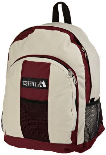 Everest Luggage Front and Side Pockets inexpensive backpacks