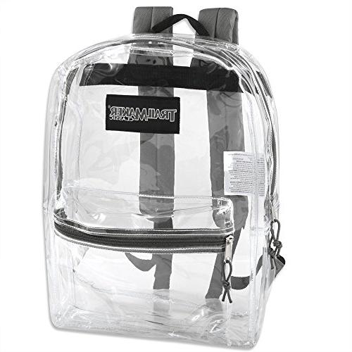Clear With Reinforced Straps inexpensive backpacks