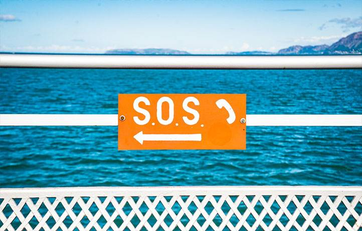 SOS signal with a knock
