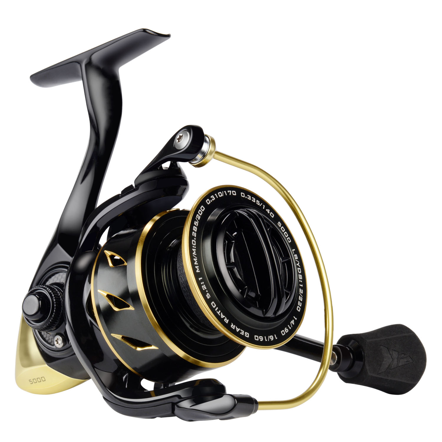 KastKing New 2018 Sharky III Gold Spinning Reel