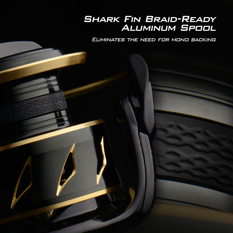 KastKing New 2018 Sharky III Gold Spinning Reel