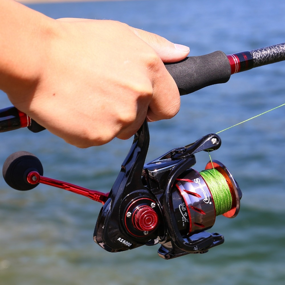 Sougayilang Carp Fishing Reel With Spare Coil Spinning Reel Max Drag 13KG Wheels Left/Right Casting Sea Fishing Reel De Pesca